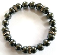 Hematite & Sparkle by Angelwingsaccessory on Etsy, $30.00