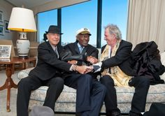 I'd love to see what comes out of THIS collaboration. Leonard Cohen, Chuck Berry & Keith Richards.
