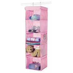 Whitmor 5-Shelf Hanging Accessory Rack, Pink