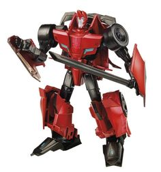 SIDESWIPE • COMPLETE W/CARD BACK • C9 •TRANSFORMERS ROBOTS IN DISGUISE #Hasbro