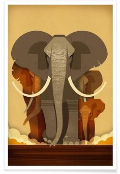 Saved by Sascha Elmers on Designspiration. Discover more Illustration Animal Elephants Dieter Braun inspiration. Art And Illustration, Elephant Illustration, Creative Illustration, Image Elephant, Elephant Love, Elephant Art, African Elephant, Framed Art Prints, Poster Prints