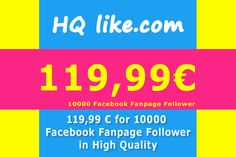 You want to be famous and successful? Are you a model, blogger or entrepreneur? With more than 100k follower you will be more successful.  We have the solution for you too.  https://hqlike.com https://hqlike.com/Sale/Facebook/Facebook_Fanpage https://hqlike.com/Sale/Facebook/Facebook_Fanpage/10000_HQ_FANPAGE_FOLLOWER