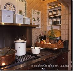 Kitchen stove inglenook. Cooking in such a surrounding would be a great experience.