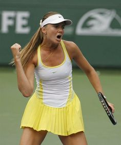 Daniela Hantuchova : Nike tennis dress. | Tennis Dresses | Tennis Skirts | Tennis Ladies Apparel @ www.FitnessGirlApparel.com