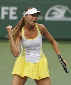 Daniela Hantuchova : Nike tennis dress.   Tennis Dresses   Tennis Skirts   Tennis Ladies Apparel @ www.FitnessGirlApparel.com