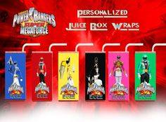 Power Rangers Mega Force Personalized Juice Box Wrappers Set of 6 (Printable) (DIY)