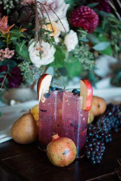 We're crushing hard on this Autumn table with navy urlencodedmlaplussign burgundy hues #autumn #fineartwedding #entertaining see more: https://ruffledblog.com/fine-art-tableau-navy-burgundy