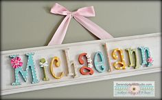 Custom modern vintage name plaque made to par SerendipityHillShop