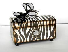 Trinket Box for the Zebra Lover by funwallart on Etsy, $29.00