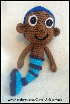 Crochet Bubble Guppy Inspired Doll