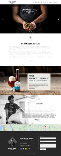 One Pager built with Adobe Muse promoting a new Swedish brewery 'Fryken' from the heart of Fryksdalen. Fryksdalen is the geographical term for the valley around Frykensjöarna in Värmland, Sweden. A pity it's not responsive but a clear presentation of the product with crisp imagery. You'd almost expect the craft beer slider to have the beer images in exactly the same place but I quite like how it changes with the white transition effect.