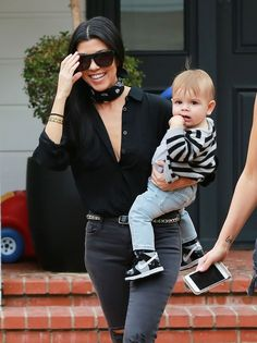 Kourtney Kardashian takes her son Reign to a music class on December 10, 2015