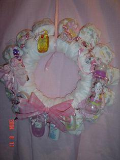 Diaper Wreath Door Decoration by KalgaryKidz on Etsy, $35.00
