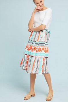 3ec26661648a Anthropologie Frida Wrap Skirt Summer Fashion Outfits, Modest Fashion,  Spring Outfits, Spring Fashion