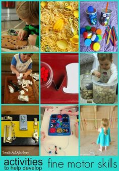 Learn with Play at Home: Activities for kids to help develop Fine Motor Skills http://480degrees.com/