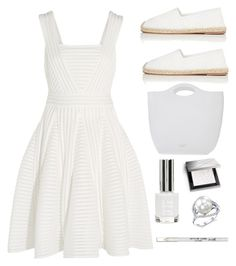 """white out"" by im-karla-with-a-k on Polyvore featuring Maje, Valentino, Pedro García, Topshop, Burberry and Barry M"