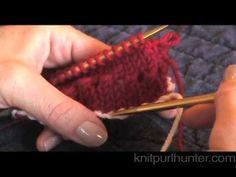 Knit Purl Hunter Video Lesson: Hemmed Picot Edge
