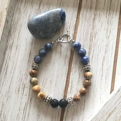 Jasper and Sodalite Beaded Essential Oil Diffuser Bracelet Handmade Bracelets, Beaded Bracelets, Bangles, Jewelry Making Tutorials, Jewellery Making, Diffuser Jewelry, Leather Gifts, Natural Gemstones, Gifts For Her