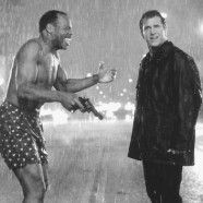 Lethal weapon, Mel Gibson and Danny Glover, photo b/w. Surf Music, Mixtape, Mad Max Mel Gibson, Riggs And Murtaugh, Lethal Weapon 4, Danny Glover, Bette Midler, Internet Movies, Movies Online