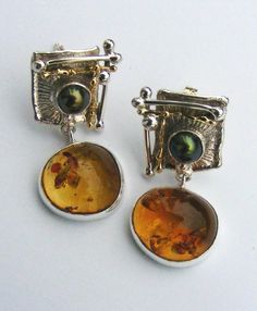 RT or Repin this Now Gregory Pyra Piro #Sterling #Silver and #Gold #Earrings 1825