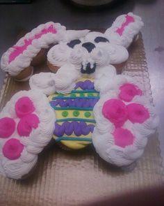 Easter Bunny cupcake cake