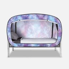 The Bed Tent, Unicorn Galaxy, Size Twin Floor Bed Frame, Galaxy Bedding, Galaxy Bedroom, Best Tents For Camping, Camping Hacks, Futon Bed, Comfortable Office Chair, Family Tent, Bed Tent
