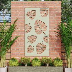 Metal Garden Screens, Garden Privacy Screen, My Builder, Garden Screening, Modular Walls, Decorative Screens, Ral Colours, Contemporary Garden, Screen Design