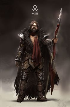 m Ranger Leather Spear Cape ArtStation - Kaichen Yan's submission on Ancient Civilizations: Lost & Found - Character Design Fantasy Warrior, Fantasy Rpg, Medieval Fantasy, Odin Norse Mythology, Norse Goddess, Viking Art, Viking Runes, Viking Woman, Viking Character