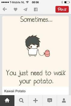 Leuk je aardappel uitlaten