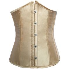 Sexy Steel Bone Corset Satin Waist Training Underbust Bustiers For... ($31) ❤ liked on Polyvore featuring intimates and shapewear