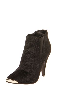Boutique Hetty Faux Pony Skin Metallic Tipped Ankle Boot at boohoo.com