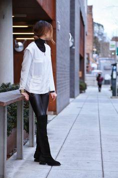Black + White +Turtlenecks | Seattle Fashion Blogger