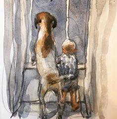 No photo description available. Instagram 2, Charlie Mackesy, Horse Art, Dog Art, Art Tutorials, Painting Inspiration, Les Oeuvres, Amazing Art, Art Photography