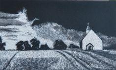 Original Miniature Rural Landscape of Harvest Storm by by DCutter, $75.00