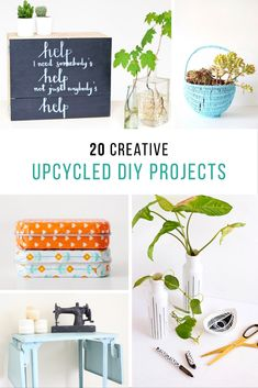 Twenty simple and creative ideas for Upcycled DIY projects using cheap or second-hand materials like mason jar lids, leather belts, and old window frames! Home Crafts, Fun Crafts, Diy Home Decor, Diy And Crafts, Crafts For Kids, Reuse Recycle, Upcycle, Old Window Frames, Mason Jar Lids