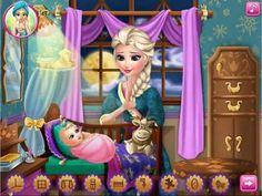Elsa Frozen Baby Feeding - Frozen Games