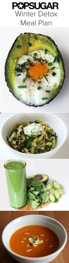 Detox With a Full Day of Clean Winter Recipes......During Winter, we need a mix of seasonal, warm recipes — it can't be all about salads and juice! — so try these Winter detox meal plans. They fill you up with fiber, keep calories in check, and offer your body the nutrients it needs to bounce back.