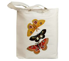 Butterflies Flying Insects 25 Eco Friendly Canvas Tote by idiopix, $15.95