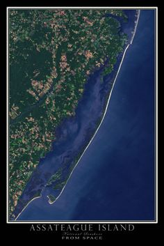 In May of 2015, the U.S. Geological Survey's LANDSAT 8 sensor captured this incredible cloud-free scene depicting the 37 mile long island along the coasts of Maryland and Virginia. From Ocean City in