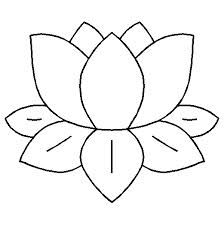 Lily pad pattern. Use the printable outline for crafts