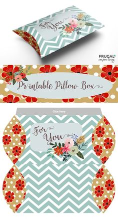 Free print and fold Valentine Pillow Box Craft Printable. Also a sweet thinking about you printable or gift box. More Valentine Recipes and Crafts on Frugal Coupon Living.