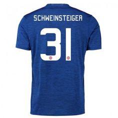 Manchester United 16-17 Bastian Schweinsteiger 31 Bortatröja Kortärmad  #Fotbollströjor