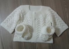 Hand Knitting Tutorials: Baby Lace Cardigan - Free Pattern