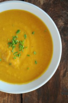 Carrot-Ginger Soup, replace cream with almond/cashew cream - allergen free!