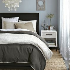 West Elm - Linen Cotton Duvet Shams & Duvet Cover - King - Slate