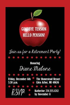 Chalkboard Teacher Retirement Party Invitation | Retirement ...