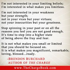 "From Brendon Burchard, Author of ""The Charge""  2013-01-04-thechargebybrendonburchard7Limitless.jpg"