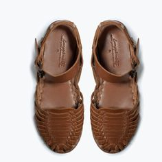 Woven leather shoes Zara kids