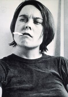 Sarah Lucas 'Fighting Fire with Fire', 1996 © Sarah Lucas  Cigarettes have featured regularly in Lucas's work, as a rebel accessory, a phallic stand-in and a means for independence, for 'possessing time in a palpable way, stopping to pause and contemplate … It's really important to have areas of your life - whether it's walking into a pub or smoking - where you suddenly feel you've found your own time zone.' (Lucas quoted in Sarah Kent, 'Young at Art', Time Out