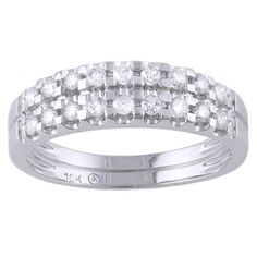 Beverly Hills Charm 10k Gold 2/5ct TDW Diamond Anniversary Band Ring
